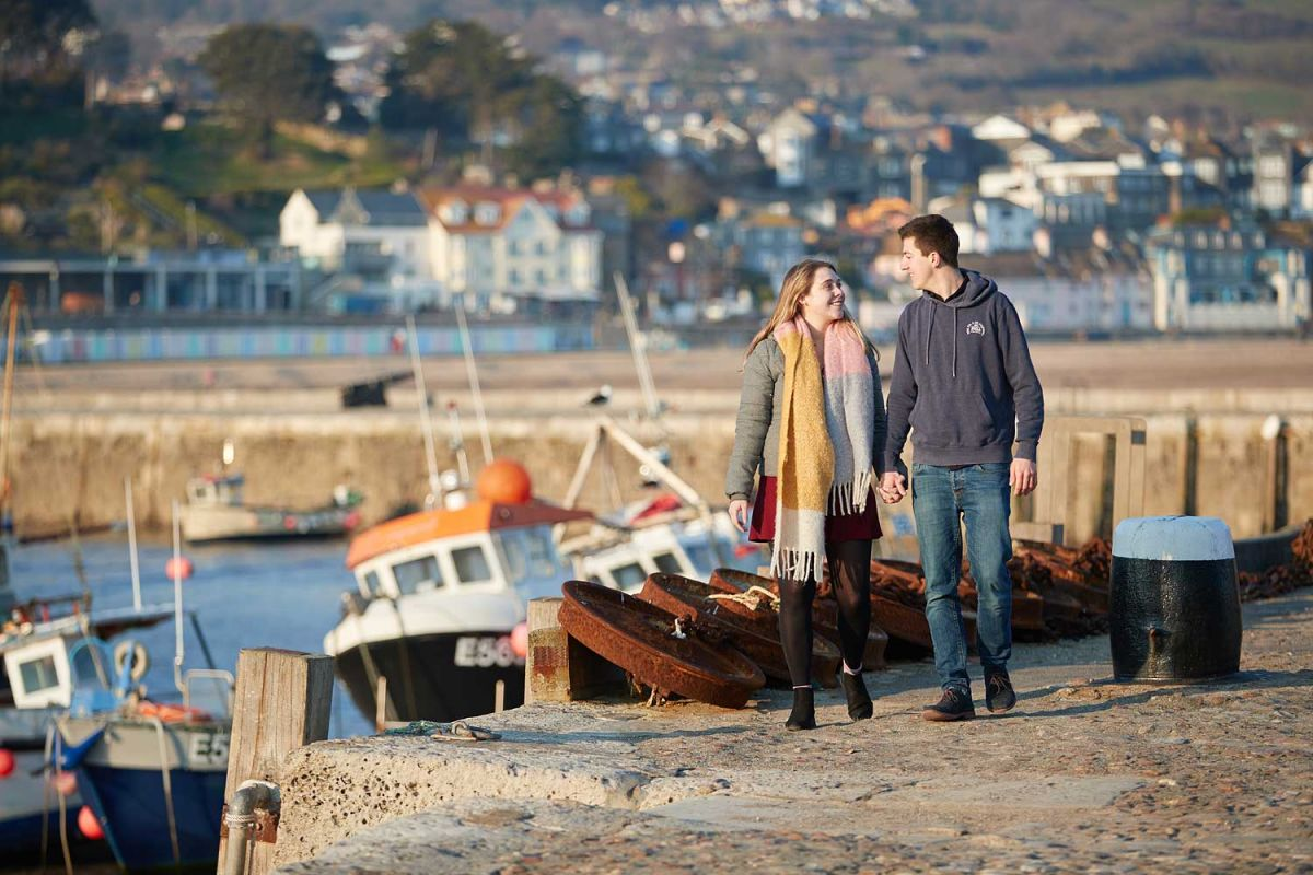 engagement photography at Lyme regis