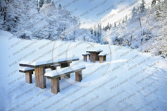 cold sunshine winter snow picnic christmas picnic table landscape snow fall frozen christmas winter snow cold brisk walk hike hills trees beauty peace relaxing remote quiet alone deep snow freezing freeze park bench park iceuk