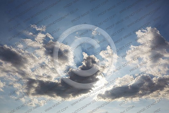 Clouds against blue sky