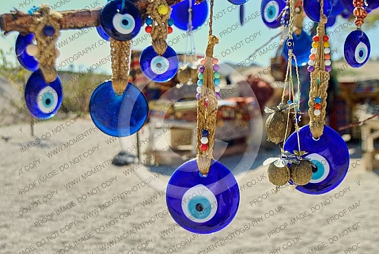 Turkish evil eye blue trinket