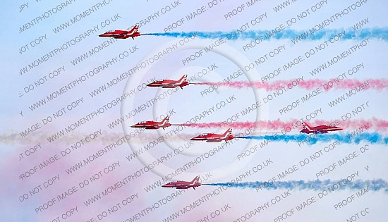 Red Arrows at Sidmouth Beach