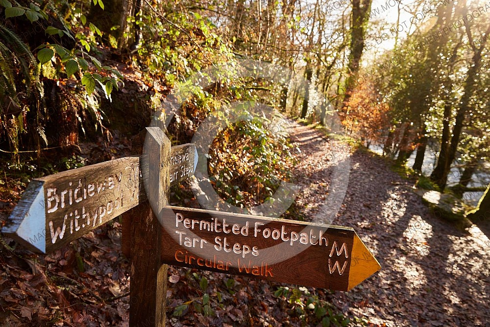 Exmoor Tarr Steps sign
