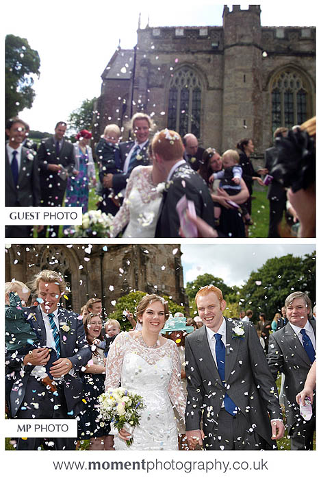 Bad wedding photography by guests