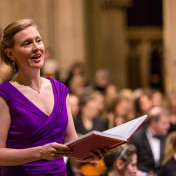 Opera singer at Wells Cathedral