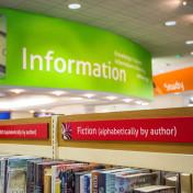 Information sign at Taunton Library