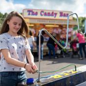 Girl having fun at the fair
