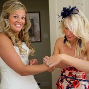 Bridal preparations for Gants Mill wedding