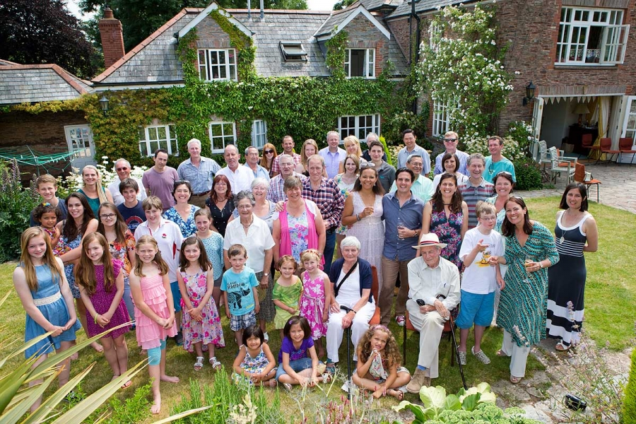 Family reunion at Oakhampton Park, Somerset