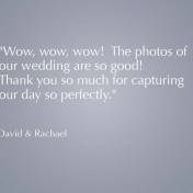 Wedding photography testimonial