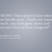 Wedding photography testimonial from Taunton wedding