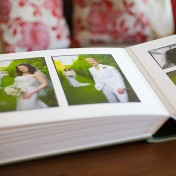 Inside large Queensberry wedding album
