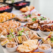 Wedding food buffet at Gants Mill