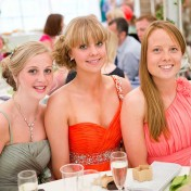 Attractive young girls attending a wedding at Gants Mill