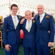 Groom and best men at a wedding at gants Mill