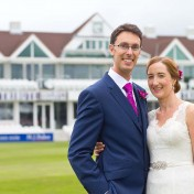 newlyweds at Somerset County Cricket Ground