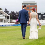 Wedded couple at Somerset County Cricket Ground