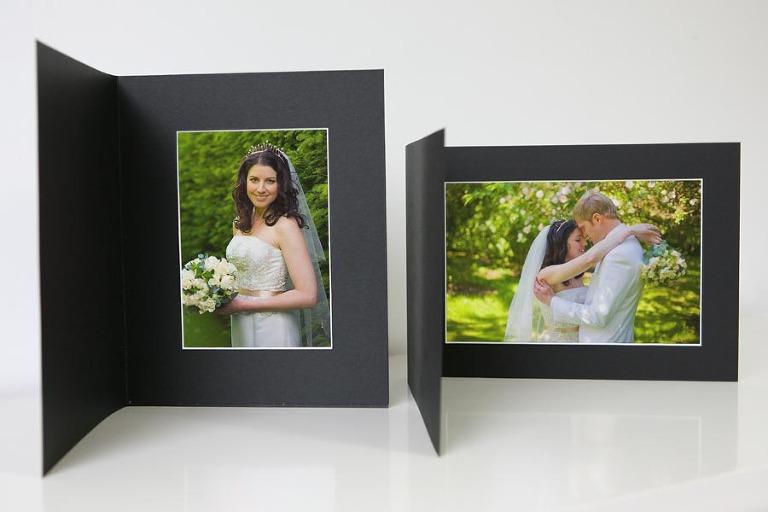 Wedding photography products - Black photo mount folders