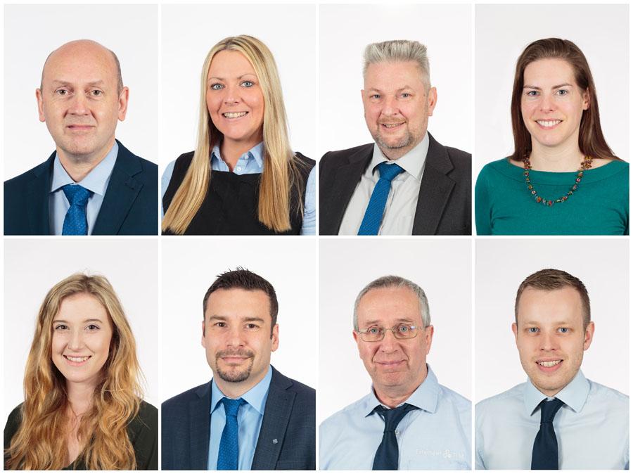 Staff headshots collage