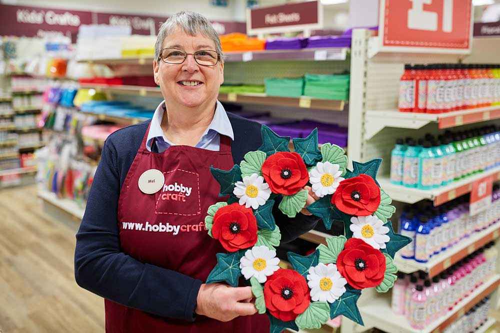 Hobbycraft staff photography in Yeovil