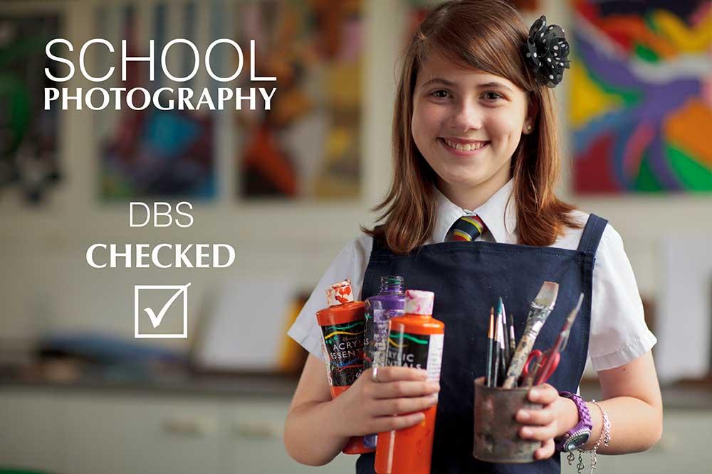 photography of schoolgirl in art class at Preston School