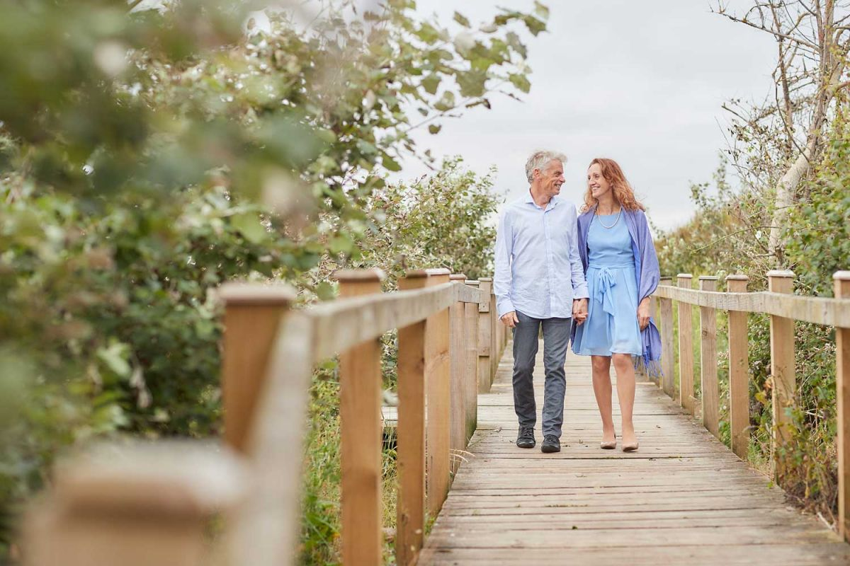 engagement photography at a Somerset beach