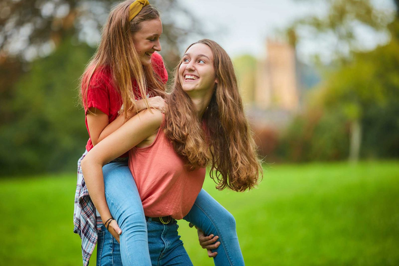 Photography of teenage sisters in Taunton
